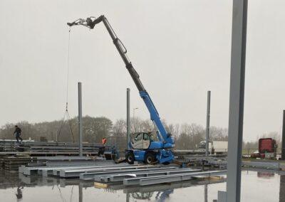 Montage bedrijfshal Westpoort